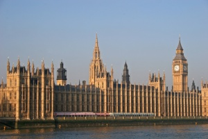 Houses of parliament across River Thames
